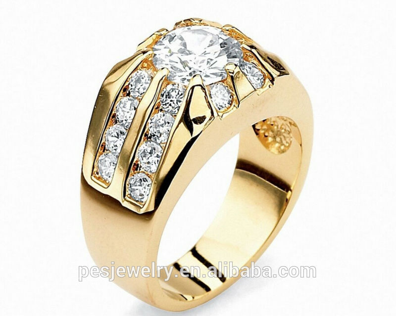 Best Design New 18k Gold Ring Models For Men - Buy 18k Gold Mens ...