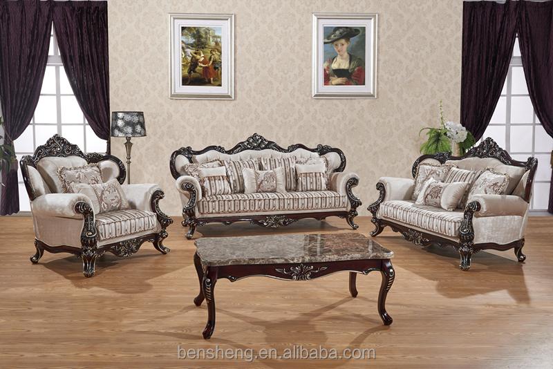 S1322 foshan shunde furniture factory elegant neo - Sofas antiguos de madera ...