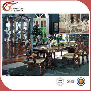 Wedding Furniture Wooden Dining Table Set,6 Seater Dining Table And Chair  WA173