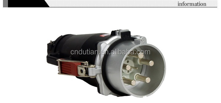 EN/IEC60309-2 3P+E/3P+N+E IP67 400A waterproof 3 phase male female plug socket