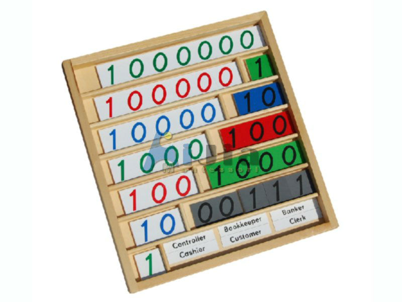 montessori bank game,montessori teaching aids