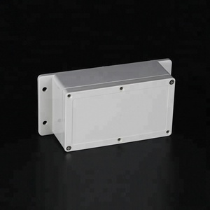 ABS PC 158*90*64 ip67 grey color clear lid outdoor plastic waterproof weatherproof electrical junction box with ear