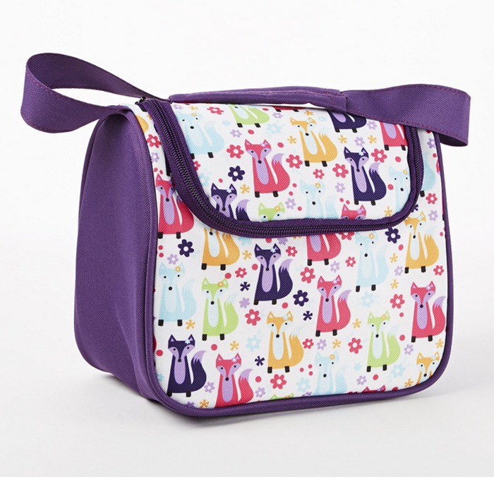 Zippered lunch bag for kids