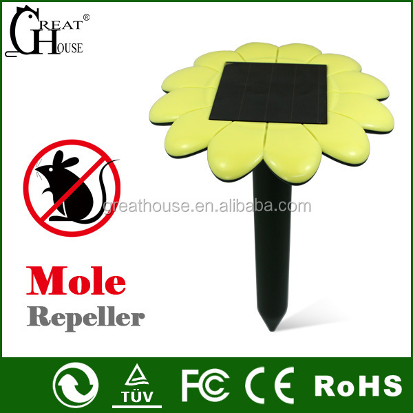 GH-316E Newest solar gopher,mole,mice,rodent expeller with LED light