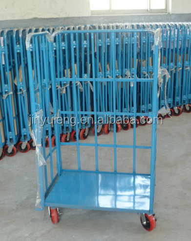 four wheel roll container,roll trolley