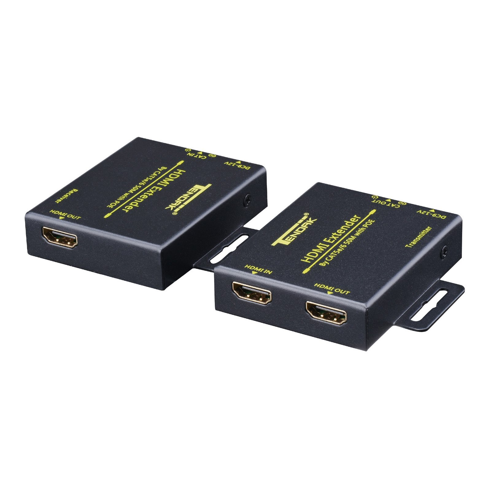 1x2 HDMI Splitter Extender Over CAT5e CAT6 RJ45 Up To 164FT 1080p w// 2 Receivers