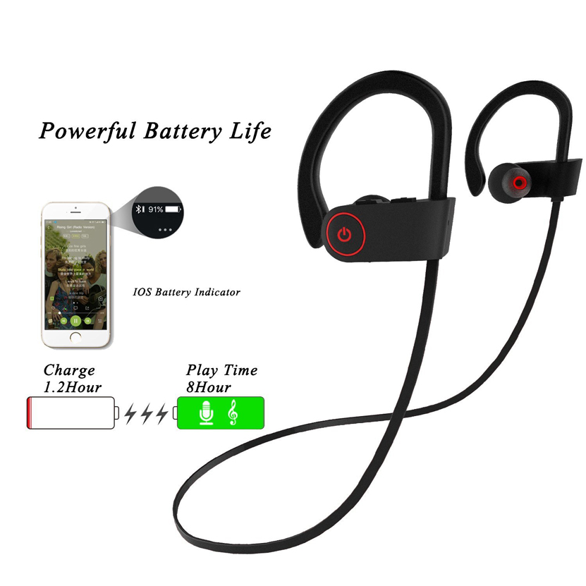 High Quality U8 Wireless Bluetooth Earphone with Mic All Smart Earphones