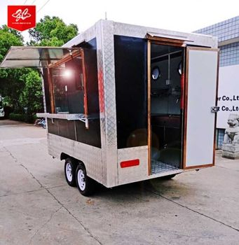 ice cream machine/donut food vending carts coffee truck  for sale with 4 wheels