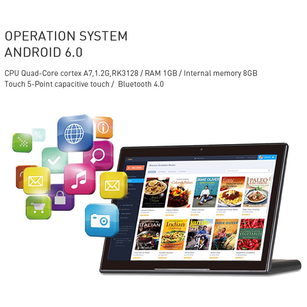 10.1 inch L Style Tablet pc RK3288 with RJ45 Android 8.1 1280*800 IPS 10 points touch screen tablet with HDMI Bluetooth