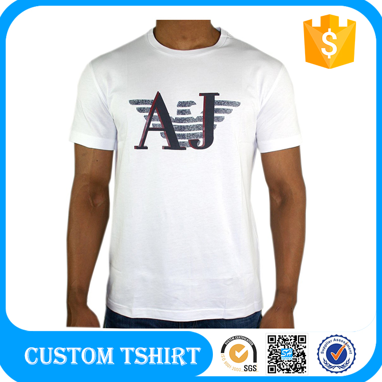 Hot Sale Custom Made Round Neck Black Tshirt Men In Wholesale Price