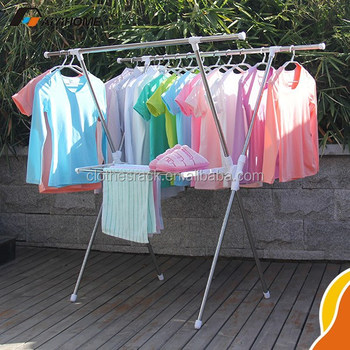 A Grade Standard Outdoor Portable Table Cloth Drying Rack