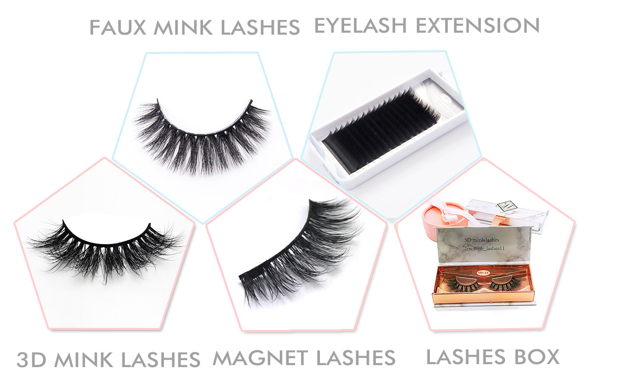 Private Label Eyelash Packaging Box Custom Packaging Kit Mix Tray