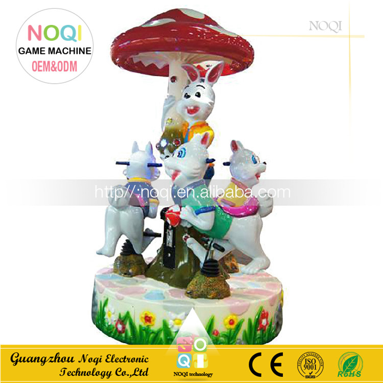 3 seats christmas musical carousel coin operated kiddie rides for rent