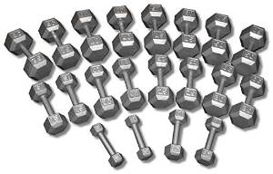 CAP Barbell SDG Economy Cast Iron Hex Dumbbell Set - 5 to 100 lbs (20 pairs) - Garage Gym Weight Set