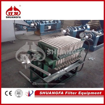 Manual Pressing Plate And Frame Filter Press Machine For Experiment And