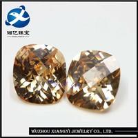 wholesale10mm square checkerboard champagne semi precious stones / buyers of world