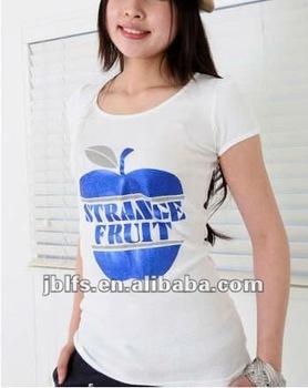 4d7194518428 Womens Apple Printed Design T Shirt Printing - Buy Womens Printed ...