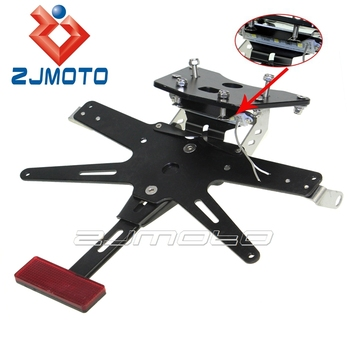 Zjmoto Black Aluminum Motorcycle License Plate Mounting Number Plate