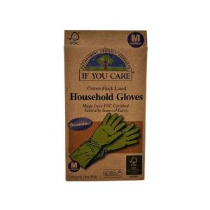 Wholesale If You Care Household Gloves - Medium - 1 Pair, [Household Cleaners, Cleaners]