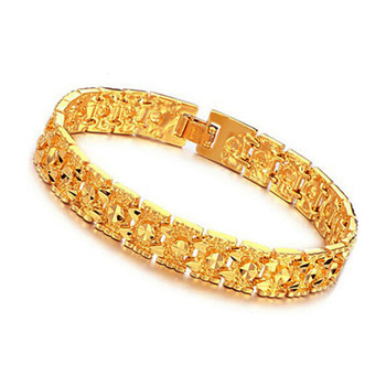 2017 Indian Latest Designs Thin 24k Gold Bracelet Model For Men