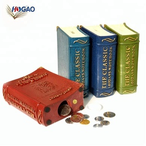 OEM factory wholesale book shape creativity cool antique style money piggy resin coin bank