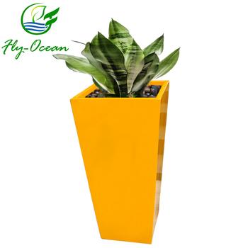 Planter Outdoor Fo 209 Fibregl Pots Large Ping Mall Decorative Fibergl Plant