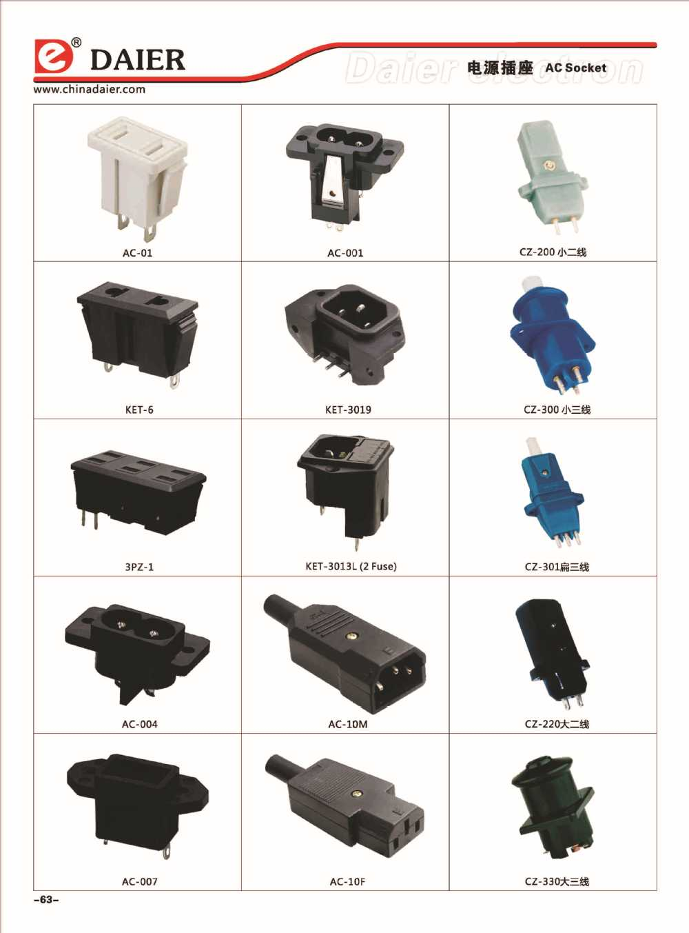 AC Power Socket /Electric Socket /Universal Switch Socket Outlet