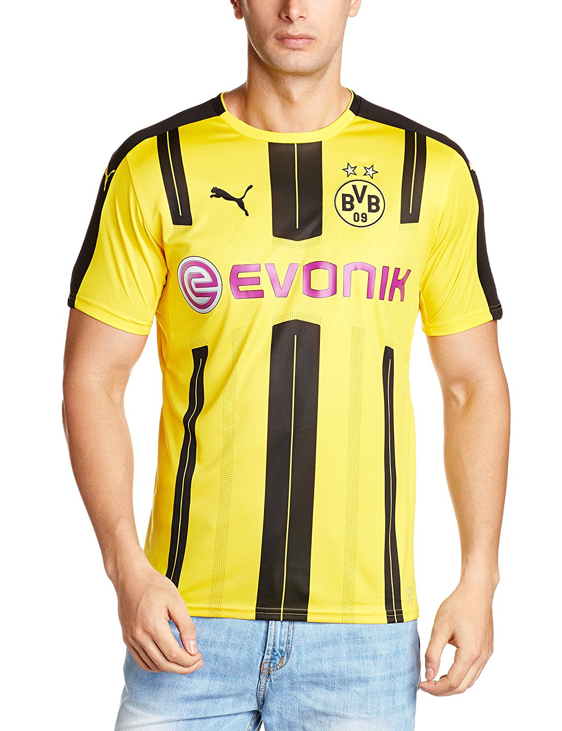 3d6df6655652 Get Quotations · 2016-2017 Borussia Dortmund Puma Home Football Shirt