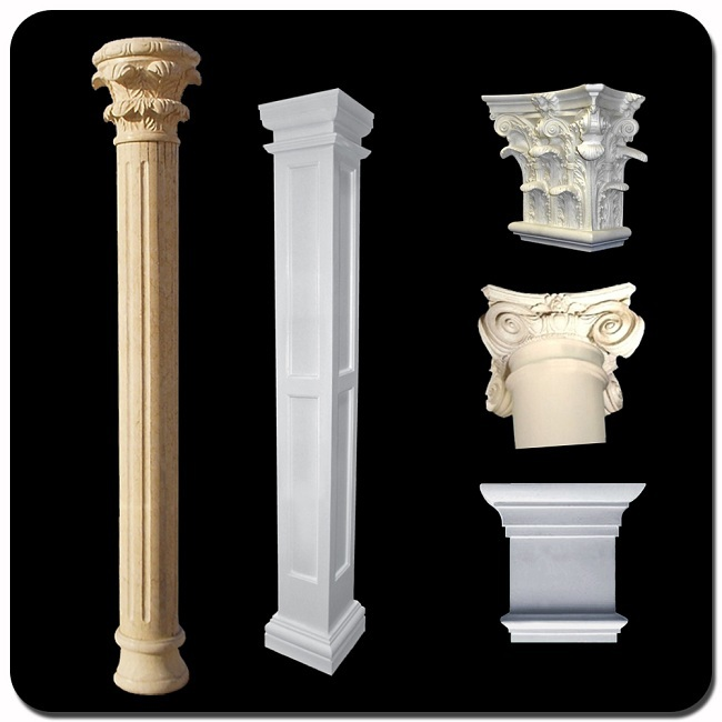 piedra base de la columna porche vper