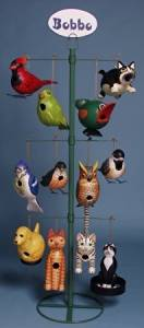 Songbird Essentials Tabletop Display for Birding Products - holds 12 styles