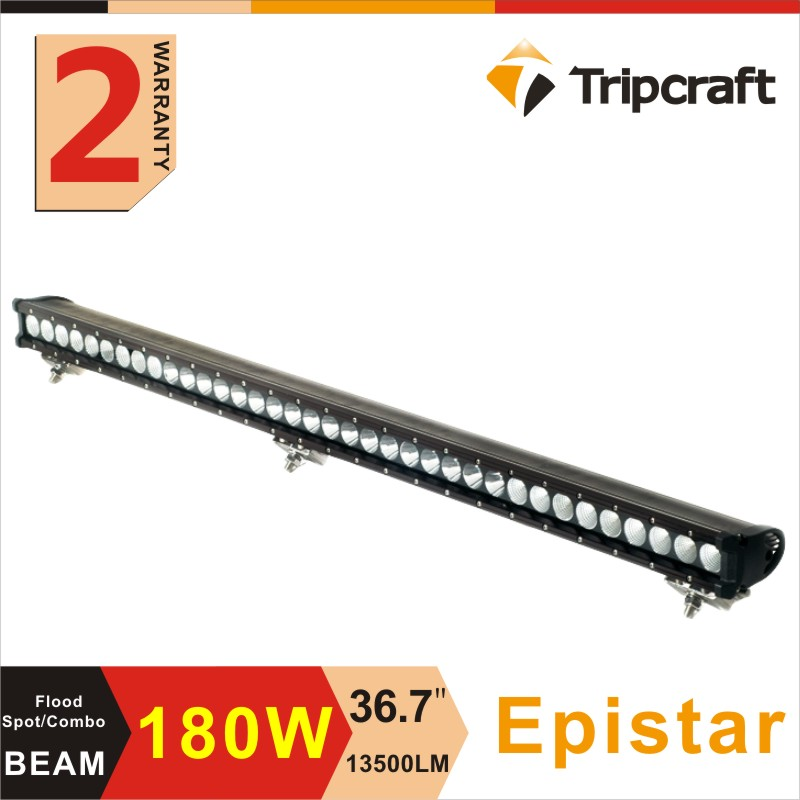 Guangzhou factory direct 180w single row led light bar 37 inch super slim led off road driving light with CE RoHS IP67