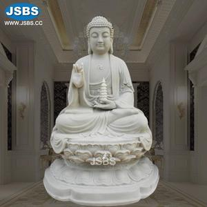 China Factory Wholesale White Marble Sitting Gautam Buddha Statue