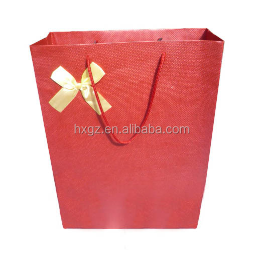 alibaba china beautiful paper bags for wedding dresses packaging bags with bow