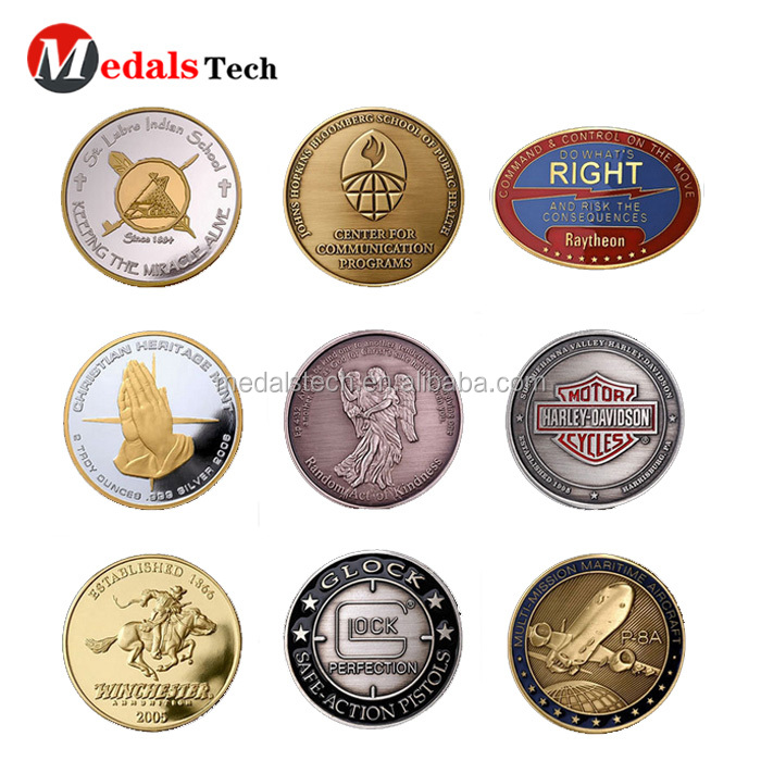 Die casting gold plated custom metal  souvenir gifts coin