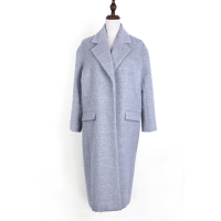 Fashion grey color winter jacket long coat for women and ladies