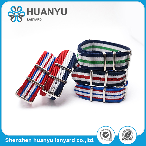 Heavy Duty Divers Brushed Buckle nato nylon dây đeo đồng hồ