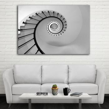 Abstrakte Schwarz Und Weiß Treppen Leinwand Wandgemälde Wandkunst Für  Wohnzimmer Günstige Geschenk ...