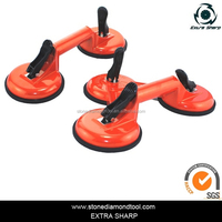2 heads suction cup with handle for glass stone