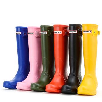 Women Rain Boots England Light Knee