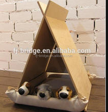 Bamboo dog bed dog house bamboo pet feeder