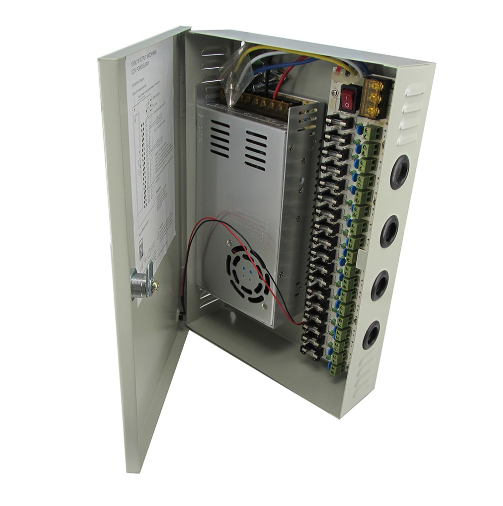 Sompom Power Box CCTV Power <strong>Supply</strong> 18 Channels 12V 30A 18CH