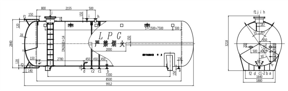 60cbm Lpg Skid Station Lpg Refilling Pump Tank Lpg Filling