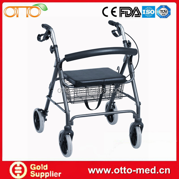 Aluminum Alloy Drive Medical Rollator Walker