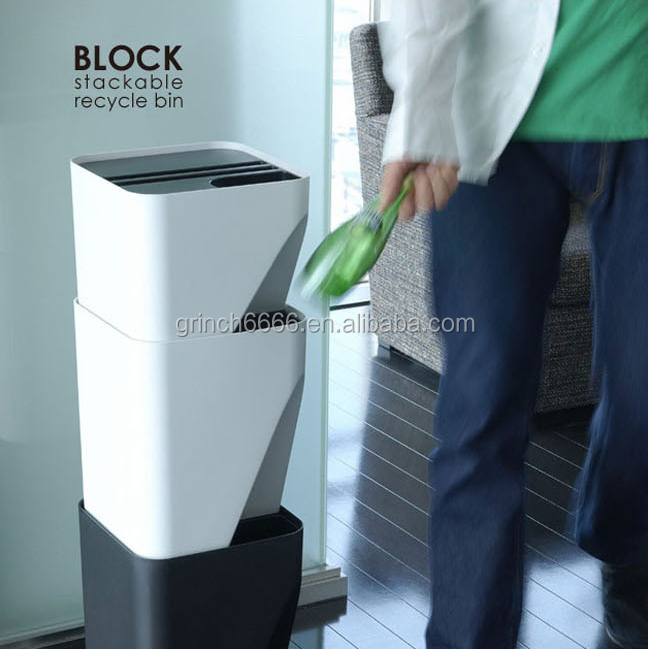 plastic recycling trash bin,trash can with lid
