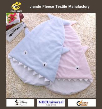 hot design polar fleece with antipilling shark child sleeping bag kids stroller sleeping bags
