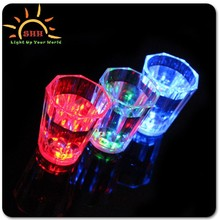 Cool Flashing LED Shot Glass With Bead Necklace Liquid Activated Party Cups