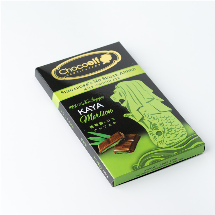 Singapore Food Suppliers Chocoelf Kaya Merlion chocolate bar No Sugar Added