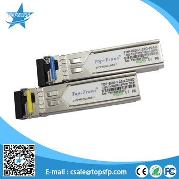 Optical fiber transceiver 1310/1550nm 1.25g bidi sfp 20km with DDM