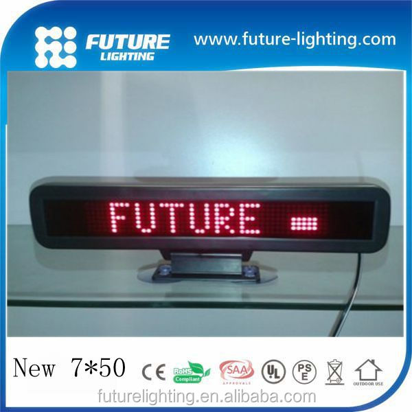 7*50dots DC12V plastic suction cup car window sign led display board