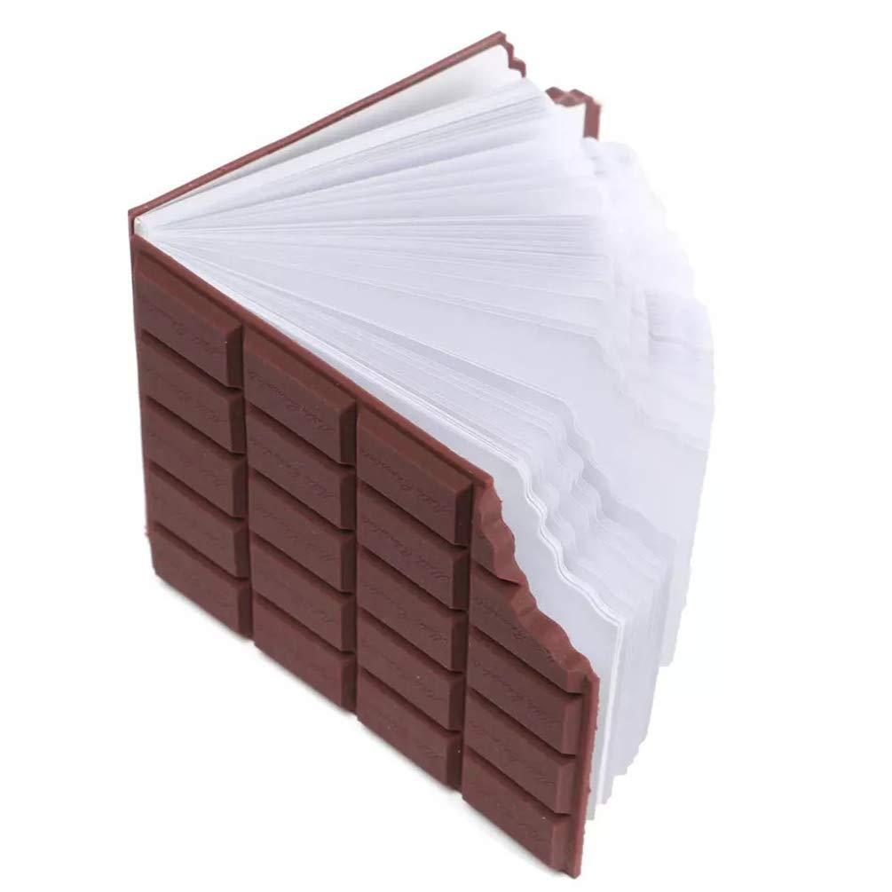 NACOLA Creative Bitten Chocolate Bar Shaped Memo Pad,2 PCS Stationery Notebook Chocolate Memo Pad DIY Cover Notepad